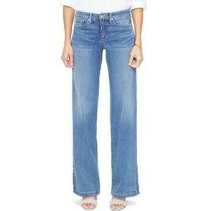 NYDJ Wide Leg High Waist Jean Light Wash 10